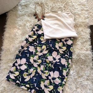 J. Crew Floral Linen 'The Pencil Skirt' Size 0